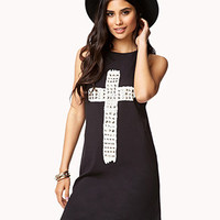 Studded Cross Tank Dress
