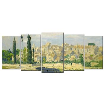 Monet Oil Painting Stock Photo 05 - 5 panel XL