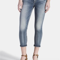 Silver Jeans ® Tuesday Medium Wash Capri - Medium Sandblast