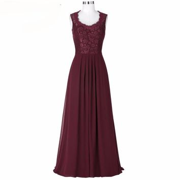 Lace Evening Dress Mother Of The Bride Dresses Cap Sleeve Evening Gown Green Blue Black Burgundy Long Dress