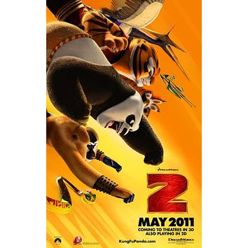 Kung Fu Panda 2 27x40 Movie Poster (2011)