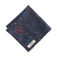 J.Crew Mens The Hill-Side Cotton-Linen Pocket Square In Victorian Paisley