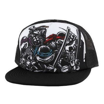 Teenage Mutant Ninja Turtles Comic Sublimated Licensed Trucker Mesh Snapback Hat