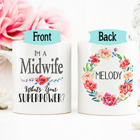Midwife Mug, Doula Mug, Gift for Midwife, Personalized Labor Delivery Gift, Labor and Delivery Nurse Gift, Funny Midwife mug, AAA_001d