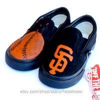 San Francisco Giants TOMS with Baseball by StacyRheaShoes on Etsy