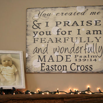 Christian Nursery Decor Religious Nursery Decor Shabby Chic Nursery Decor Personalized Nursery Sign Baby Gift Baby Shower Gift