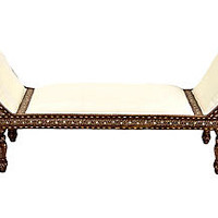 Bone Inlay Chaise Longue