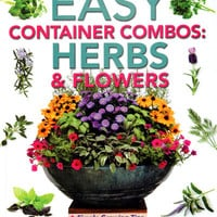 Books & Fertilizer - PAMELA CRAWFORD'S EASY CONTAINER COMBOS: HERBS AND FLOWERS BOOK