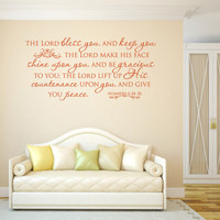Religious Wall Decal. The Lord Bless Thee - CODE 170