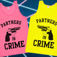 Partners in Crime Best Friends Tanks | lookhuman.com