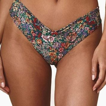 Nu Micro Cheeky Scrunch Bikini Bottom - Mara Floral Print