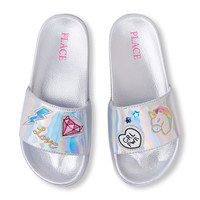 Girls Holographic Patch Slide   The Children's Place