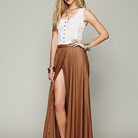 Free People  Flowly Slit Skirt at Free People Clothing Boutique