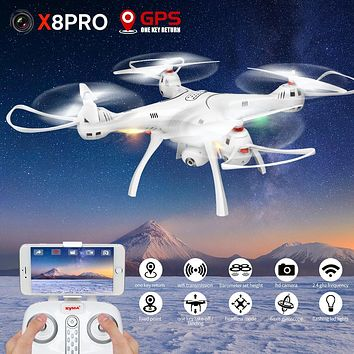 SYMA X8PRO RC Drone Selfie Remote Control Aircraft With Camera Wifi FPV Transmision GPS Function Controller Helicopter Dron Gift