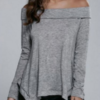 Irregular Off Shoulder shirt  B0015533