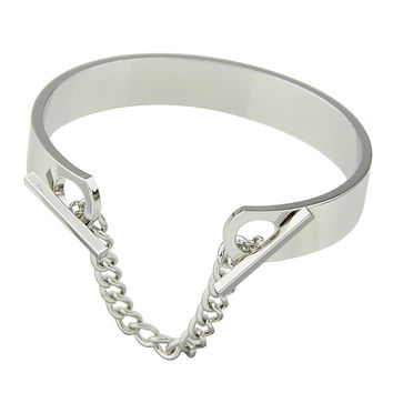Bar Chain Openwork Bangle