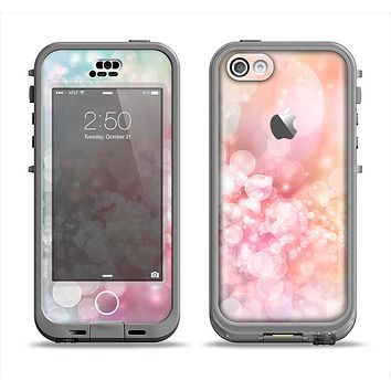 The Unfocused Pink Abstract Lights Apple iPhone 5c LifeProof Nuud Case Skin Set