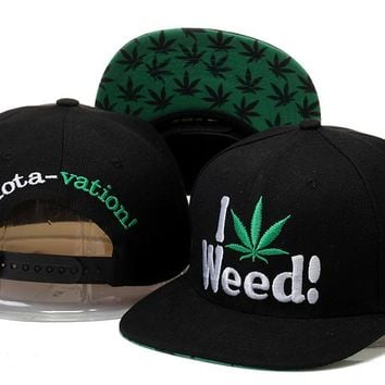 Marijuana Snapbacks Cap Snapback Hat - Ready Stock