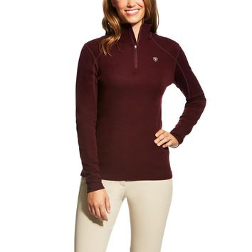 Ariat Ladies Cadence Wool 1/4 Zip Sweater - Malbec