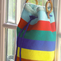 Handmade Cotton Crochet Handbag