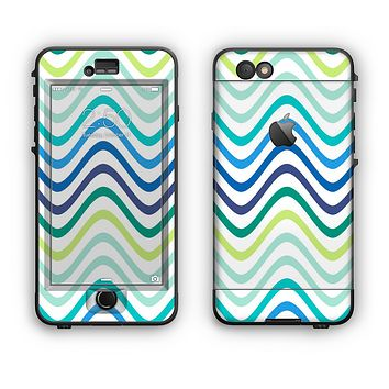 The Vibrant Fun Colored Pattern Swirls Apple iPhone 6 LifeProof Nuud Case Skin Set