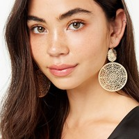 Tiered Disc Drop Earrings