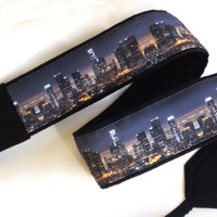 Los Angeles Downtown Skyline Camera Strap.  Photographer Gift