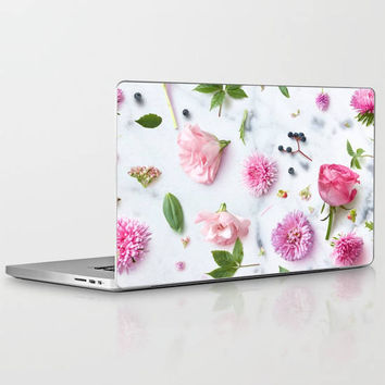 Flower Laptop Decal, Floral Nature Laptop Decal, Pretty Sunflower Vinyl Laptop Decal for Apple Macbook Air, Macbook Pro Retina, Macbook Pro