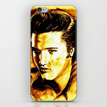 Elvis Gold iPhone Skin by GittaG74