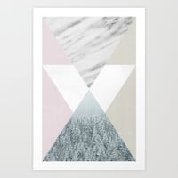 Into the snow Art Print by Cafelab