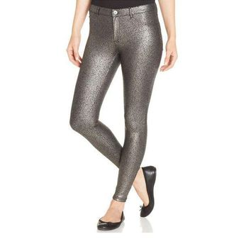 Hue Satin Jersey Metallic  Silver Gravel Legging