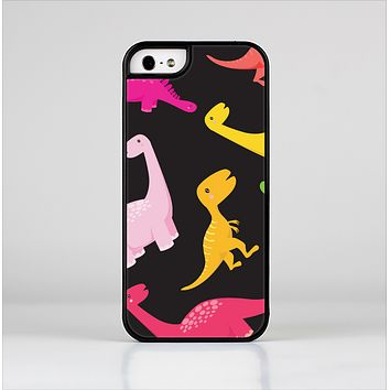 The Vector Neon Dinosaur Skin-Sert for the Apple iPhone 5-5s Skin-Sert Case