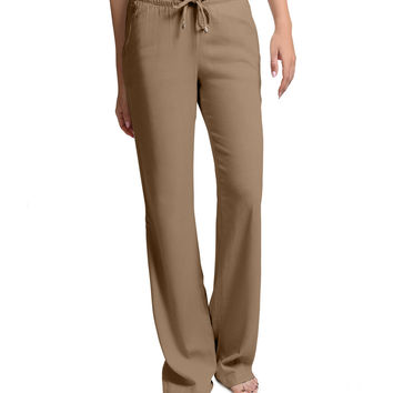 LE3NO Womens Lightweight Loose Fit Linen Pants (CLEARANCE)