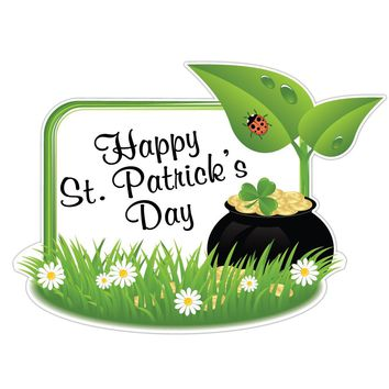 St. Patrick's Day Lawn Decoration - 3'x4' Pot of Gold Sign - Free