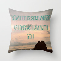 Somewhere With You Throw Pillow by RichCaspian