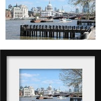 blue wall art London print blue photography prints London art blue office decor travel photography prints blue bathroom prints wall decor