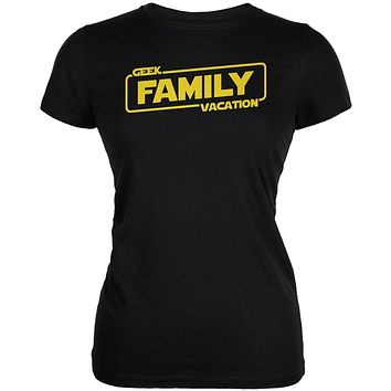Geek Family Vacation Juniors Soft T Shirt