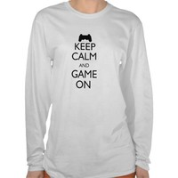 Keep Calm and Game On Tee Shirt from Zazzle.com
