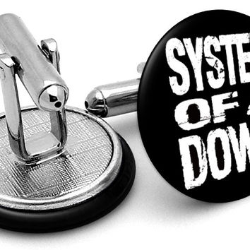 System Of A Down Logo Cufflinks