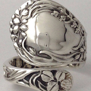 Size 9 Vintage Gorham Sterling Silver Spoon Ring
