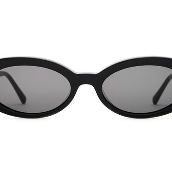 Crap Eyewear - Sweet Leaf Black Sunglasses / Grey Lenses
