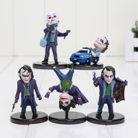5pcs/lot The Dark Knight The Joker Mini PVC Figures Joker The Evil Opponent of Collection Toys Gift for Kids