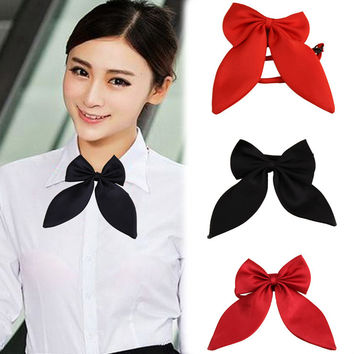Cute Cool Fashion Women Girls Cute Party Adjustable Bow Neck Tie 4 Colors Free Shipping Tie-025