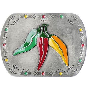 Sizzling CHILI PEPPERS Belt Buckle
