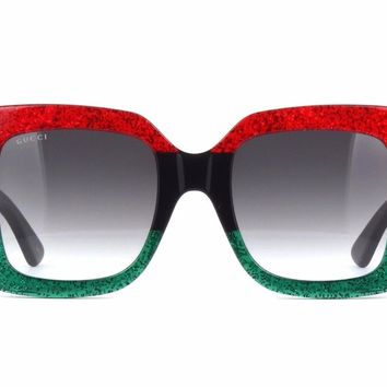 NEW Gucci GG0083S 001 Red - Black Gradient Lenses WOMEN SUNGLASSES