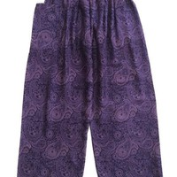 Purple Baggy Pants Thai Graphic Design