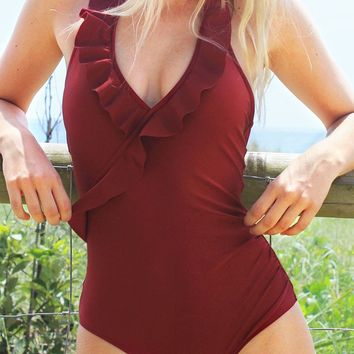 Cupshe On a Whim Falbala One-piece Swimsuit