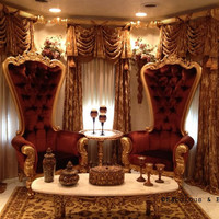 Fabulous and Baroque — Absolom Roche Baroque Chair - Gold & Amber - Client Photo - Fabulous & Baroque