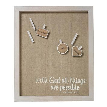 Make It Happen Wall Art: Utility Board With God All Things Are Possible