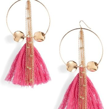 Ettika Tassel Hoop Earrings | Nordstrom